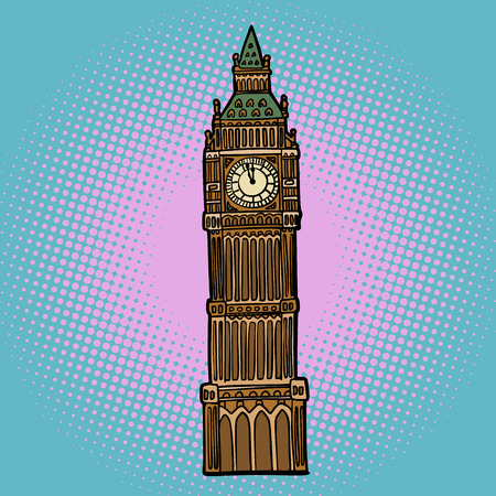 London Big Ben watch Иллюстрация