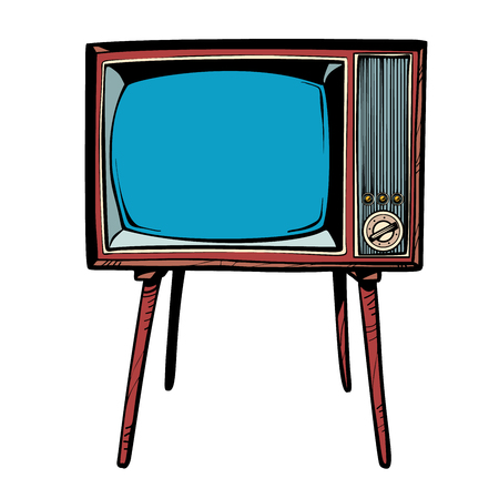 retro TV. Television news and programs