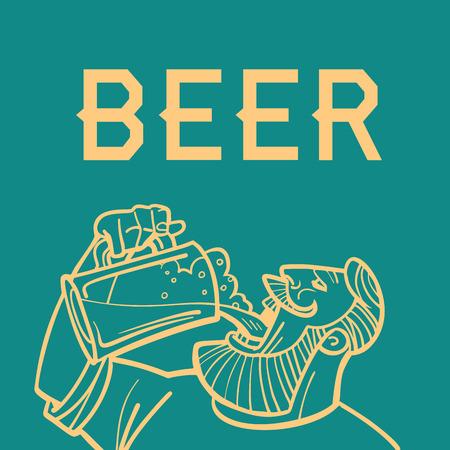 Beer man drinks