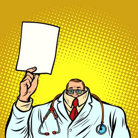 help information cowardly male doctor. Medicine and health