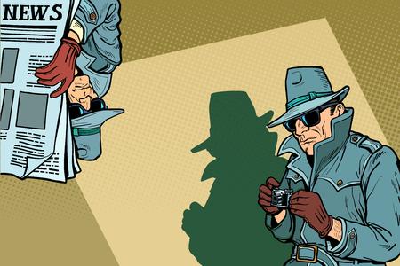 Detective Spy background concept Foto de archivo - 108248545