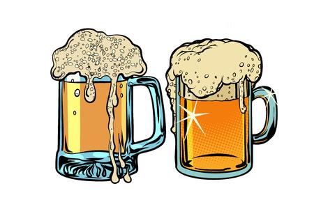 Beer foam isolate on white background. Comic cartoon pop art retro vector illustration drawing Imagens