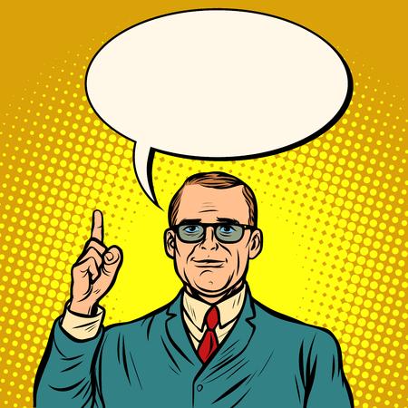 businessman. Business Finance. Comic cartoon pop art retro vector illustration drawing