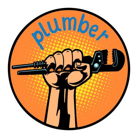 plumber icon symbol circle emblem Illustration