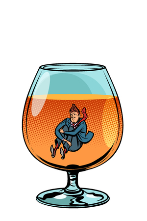 drunkard in brandy glass