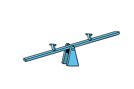 Of a seesaw. Swing Board balancer