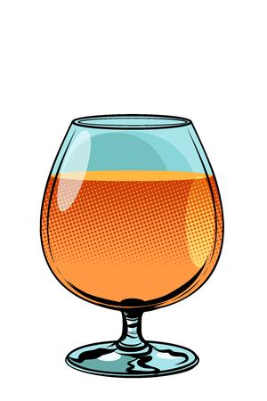 glass of cognac brandy Illustration