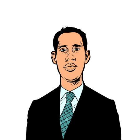 Caracas, Venezuela - 9 February 2019: Portrait of Juan Guido, President of Venezuela, Interim President of Venezuela Pop art retro illustration Illustration