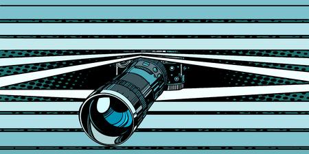 caméra photo espionnant la surveillance. intimité