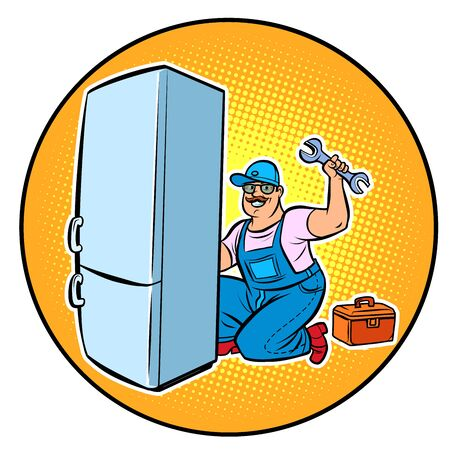 master refrigerator repair  イラスト・ベクター素材