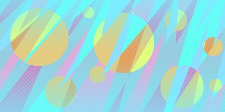 circles abstract background eighties style 80s Ilustração