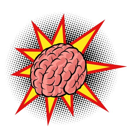 brain explosion. the intelligence of the human mind Ilustração