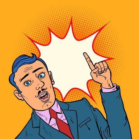 man points finger illustration