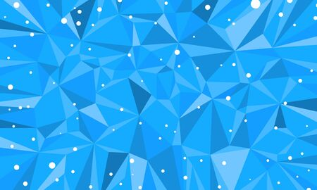 blue triangle abstract background Christmas and New year