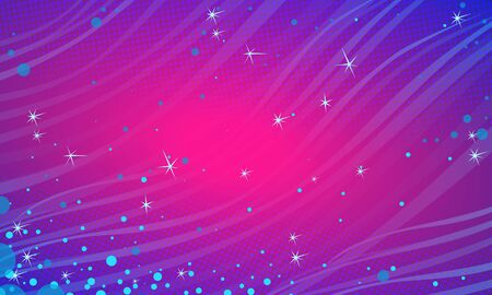 Blue Magenta snow festive abstract background. Christmas and New year Illustration
