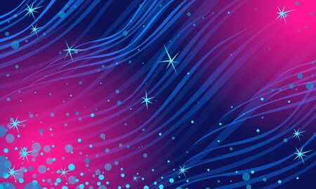 abstract blue Magenta night star background. Christmas and New year Vector Illustration