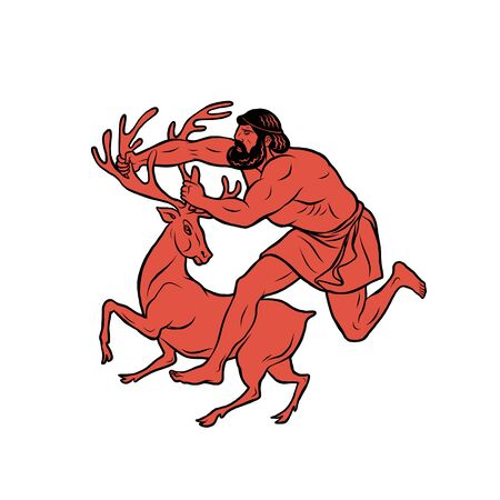Ceryneian Hind. 12 Labours of Hercules Heracles
