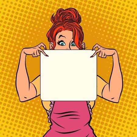 Housewife recipe blank form Ilustración de vector