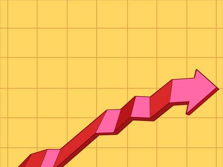 Chart of indicators up  イラスト・ベクター素材