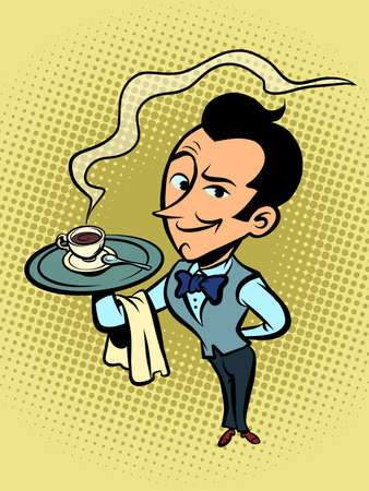 waiter with a Cup of coffee or tea