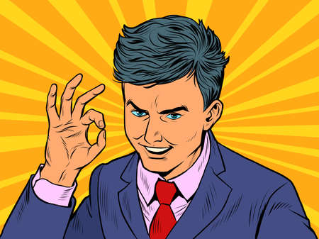 Businessman OK gesture Ilustração