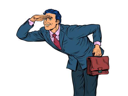 The businessman looks ahead Illustration