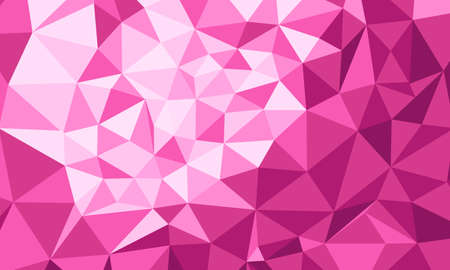 Polygonal pink background Ilustração