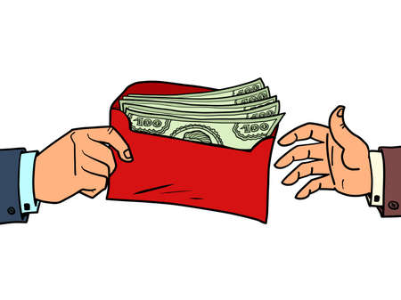 a bribe or a bonus dollars in an envelope