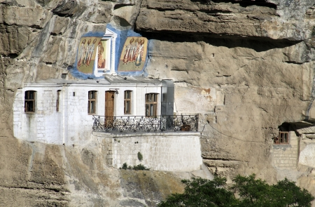 Part of the Uspensky Cave Monastery photo