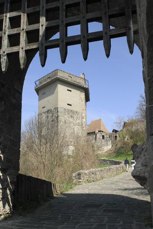 visegrad: Solomon Tower in Visegrad Stock Photo