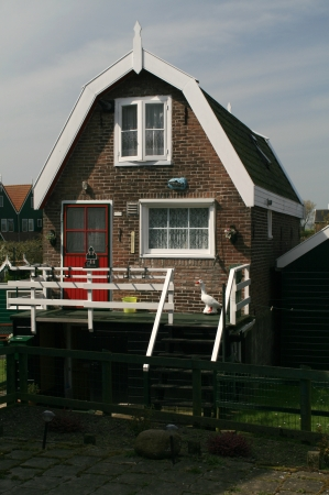 marken: Typical wooden house in Marken - traditional fisherman s village near Amsterdam, Netherlands