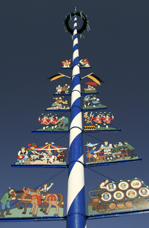 maypole: Traditional Bavarian Maypole  Editorial