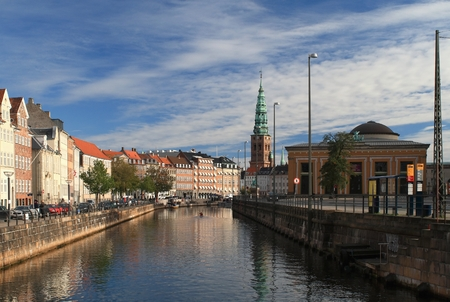 Frederiksholms Canal in Copenhagen Editorial