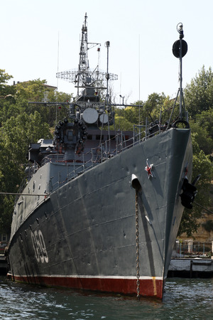 Russian Battleship of the Black Sea Fleet in Sevastopol