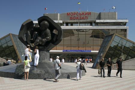 Modern building of Odessa Port Passenger Terminal