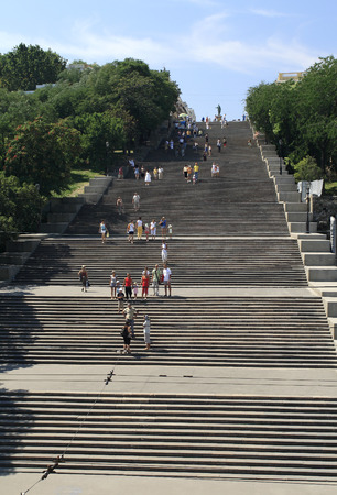 Potemkin Stairs in Odessa Editorial