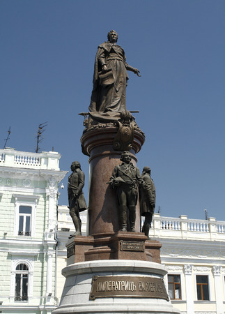 Statue of Empress Catherine the Great in Odessa, Ukraine