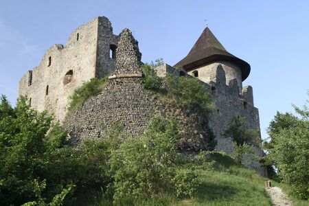 Ruins of the Medieval Castle Somoska on the Slovak-Hungarian border