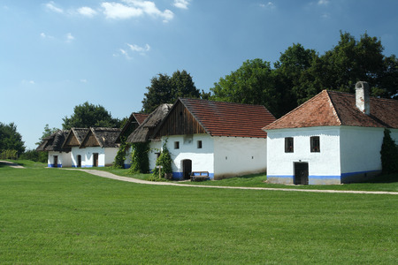 Traditional Moravian buildings viticulture (wine cellars) in Straznice, Czech Republic. Editorial