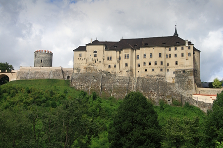 Cesky Sternberk - a medieval gothic castle located on the west side of the Sazava River overlooking the village with the same name of the Central Bohemian Region.