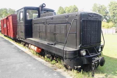 An old soviet train, where prisoners were escorted to the gulag. The Grutas park near Druskininkai, Lithuania.