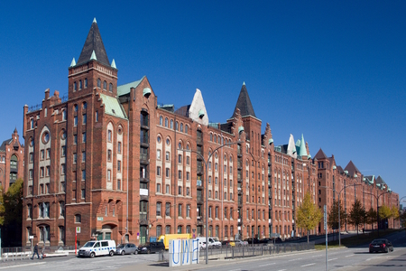 The Speicherstadt - the largest historic warehouse in the world, located in the HafenCity quarter in Hamburg, Germany. Editorial