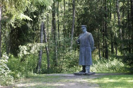 Bronze Monument to Joseph Vissarionovich Stalin in the Grutas Park near Druskininkai, Lithuania