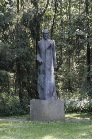 Bronze Monument to Felix Dzerzhinsky. Grutas Park near Druskininkai, Lithuania Editorial
