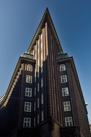 The Chilehaus (Chile House) is an architectural landmark building in brown brick stones in central Hamburg. An exceptional example of the 1920s Brick Expressionism style of architecture.