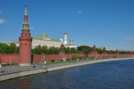 Moscow Kremlin in Summer day