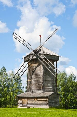 Traditional wooden windmill