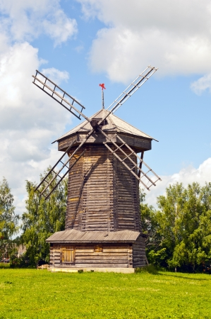 Old wooden windmill Stock Photo - 16602986