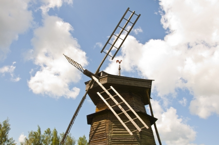 Old wooden windmill Stock Photo - 16602965