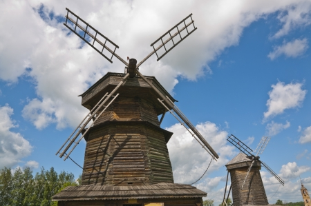 Old wooden windmill Stock Photo - 16602971